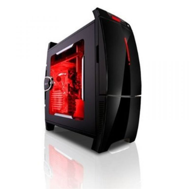 BlackLine Black Steel Plastic ATX Mid Tower Computer Case+